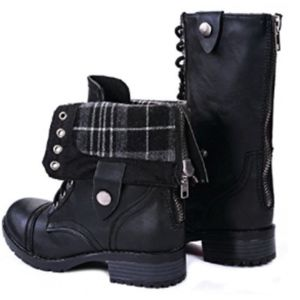 b7659c105 JJF Shoes Shoes - Women Military Combat Boots